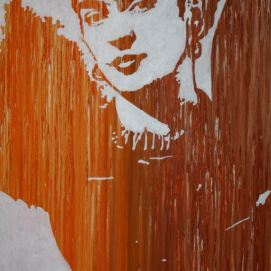 Frida Khalo, acrylique sur toile, Rodolphe Cosimi
