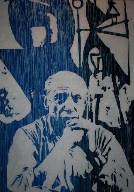 Pablo Picasso, acrylique sur toile, Rodolphe Cosimi