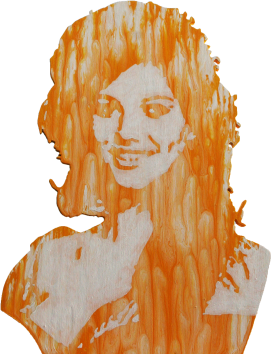 Claudia Cardinale, acrylique sur Bois, Rodolphe Cosimi