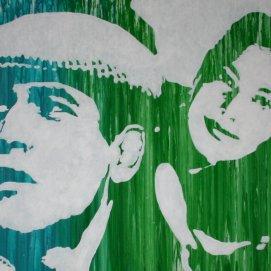 Hepburn Newmann Gardner Dean Acrylique sur toile 180x60cm 2013